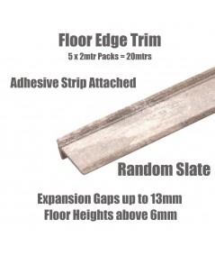 Random Slate Floor Edge Adhesive Trim 10 x 2Mtr Lengths Bridge Gap Between Floor and Skirting