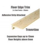 Travertine Floor Edge Adhesive Trim 10 x 2Mtr Lengths Bridge Gap Between Floor and Skirting