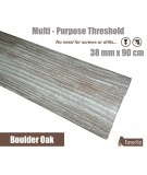 Boulder Oak Laminated Transition Threshold Strip 38mm Multi-Height/Pivots 90cm