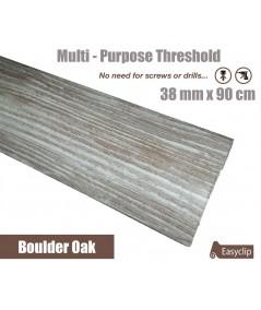Boulder Oak Laminated Transition Threshold Strip 38mm Multi-Height/Pivots 90cm