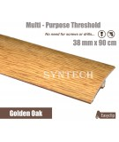 Golden Oak 38mm x 90cm Laminate Door Threshold Adjustable Height/Pivots