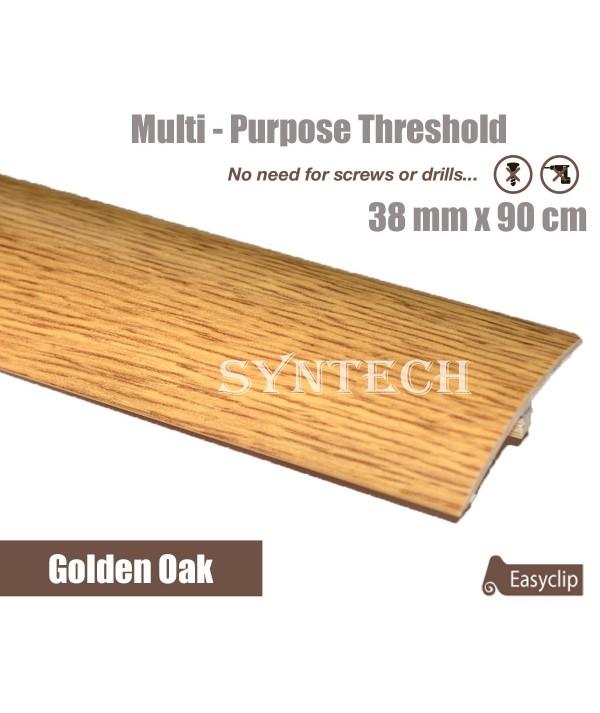 Golden Oak 38mm x 90cm Laminate Door Threshold Adjustable Height/Pivots
