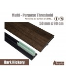Dark Hickory Laminated Transition Threshold Strip 50mm x 90cm Multi-Height/Pivots
