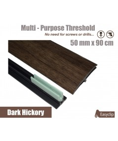 Dark Hickory Laminated Transition Threshold Strip  50mm x 90cm Multi-Height/Pivots