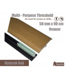 Veneer Natural Oak Transition Threshold Strip 50mm x 90cm Multi-Height/Pivots