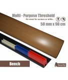Beech Laminated Transition Threshold Strip 50mm x 90cm Multi-Height/Pivots