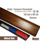 Wheat Oak Veneer Transition Threshold Strip 50mm x 90cm Multi-Height/Pivots