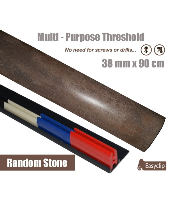 Random Stone Laminate Transition Threshold Strip 38mm Multi-Height/Pivots 90cm