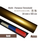 Gold Threshold Strip 38mm x 180cm laminate multi Purpose Adhesive Clip System