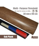 Oak Plank Laminate Transition Strip 38mm x 0.90mtr Multi-Height and Pivot