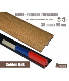 Golden Oak Adhesive Laminated Door Threshold Strip 38mm x 90cm Multi-Height/Pivots