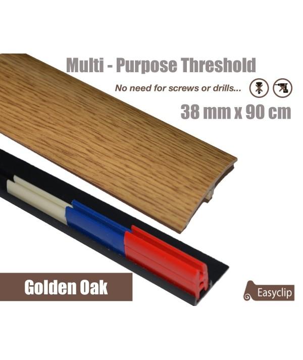 Golden Oak Adhesive Laminated Door Threshold Strip 38mm x 90cm Multi-Height/Pivots
