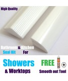 Shower Seal 2mtr Strips White Gloss Finnish Highest Quality