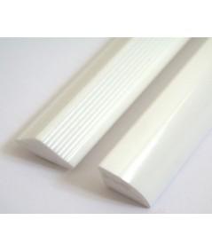 Solid Corner bath Seal 15mm profile gloss white finish