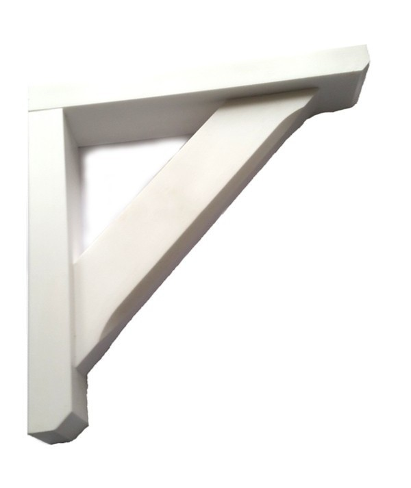 A Pair White 300x300x60 Gallow / Porch Brackets / Bay Window White Will Not Rot New