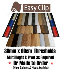 Sample of threshold strip 38mmx9cm sample cover plate for colour matching