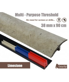 Limestone Laminated Transition Threshold Strip 38mm Multi-Height/Pivots 90cm