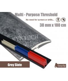 Grey Slate Threshold Strip 38mm x 180cm laminate multi Purpose Adhesive Clip System