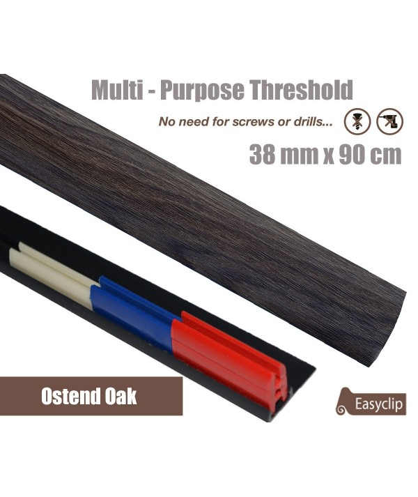 Ostend Oak Adhesive Laminate Door Threshold Strip 38mm x 90cm Multi-Height/Pivots