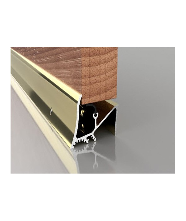 "Stormgaurd (L)33"" 838mm Superseal Threshold Door Sill Rubber Rain Draught Excluder Seal Gold"