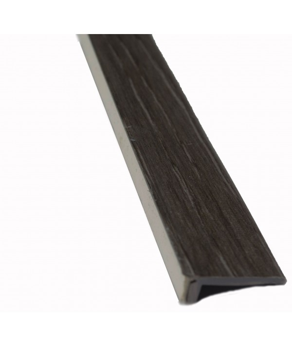 Dark Grey Oak Floor Edge Adhesive Trim 5 x 2Mtr Lengths Bridge Gap Between Floor and Skirting 10mtrs