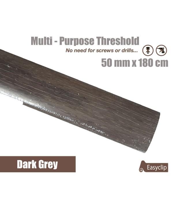 Dark Grey Laminated Transition Threshold Strip  50mm x180cm Multi-Height/Pivots