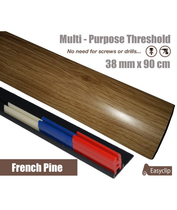 French Pine Laminate Transition Threshold Strip 38mm Multi-Height/Pivots 90cm