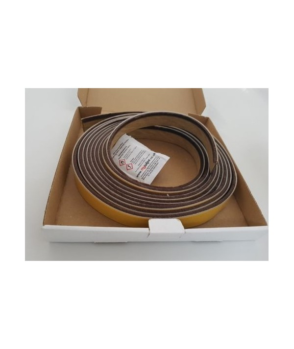 Oak Self Adhesive Surface Mounted Intumescent Strip with Brush, 5.2m BS476 P22
