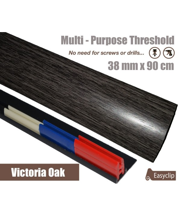 Victoria Oak Laminate Transition Threshold Strip 38mm Multi-Height/Pivots 90cm