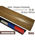 Varnished Oak Threshold Strip 38mm x 180cm laminate multi Purpose Adhesive Clip System