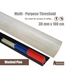 Washed Pine Threshold Strip 38mm x 180cm laminate multi Purpose Adhesive Clip System