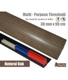 Natural Oak Laminated Door Threshold Strip 38mm x 90cm Multi-Height/Pivots Adhesive