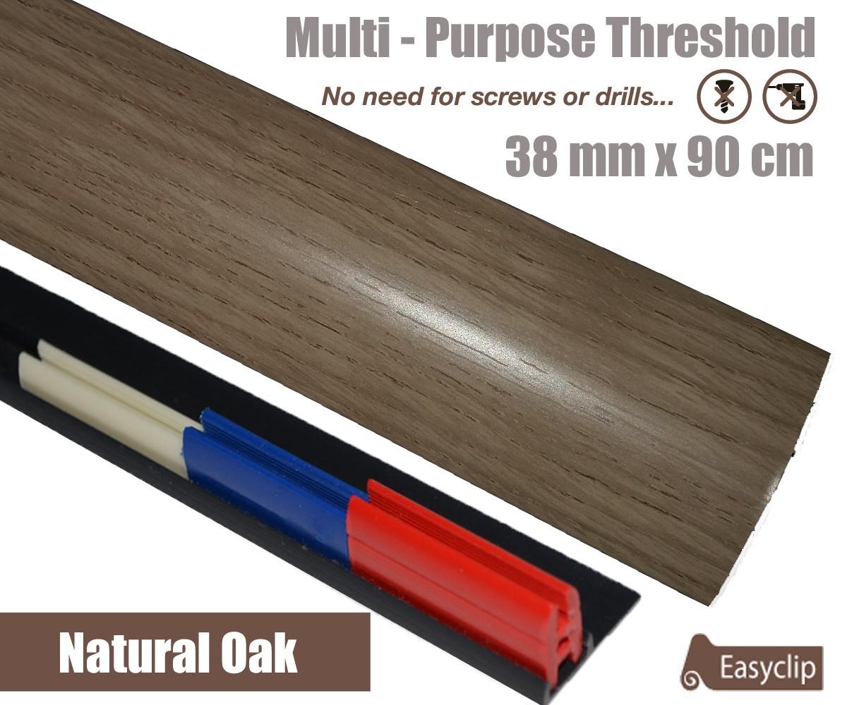natural oak laminate door threshold strip 38mm x 90cm adhesive syntech plastics