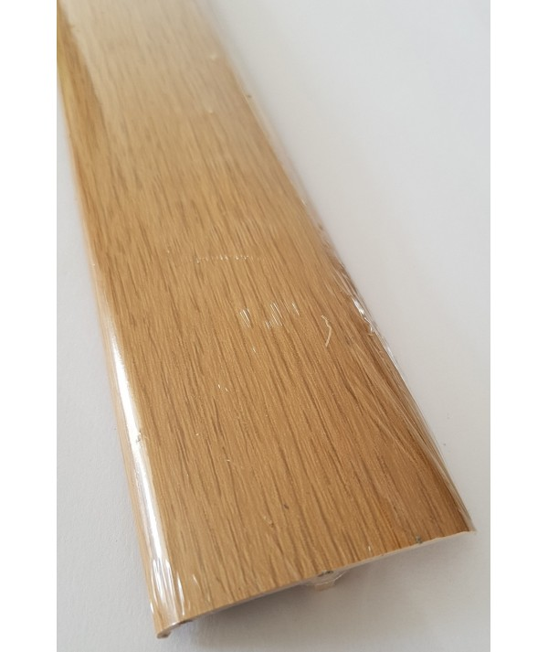 Light Oak Laminated Transition Threshold Strip 50mm x 90cm Multi-Height/Pivots