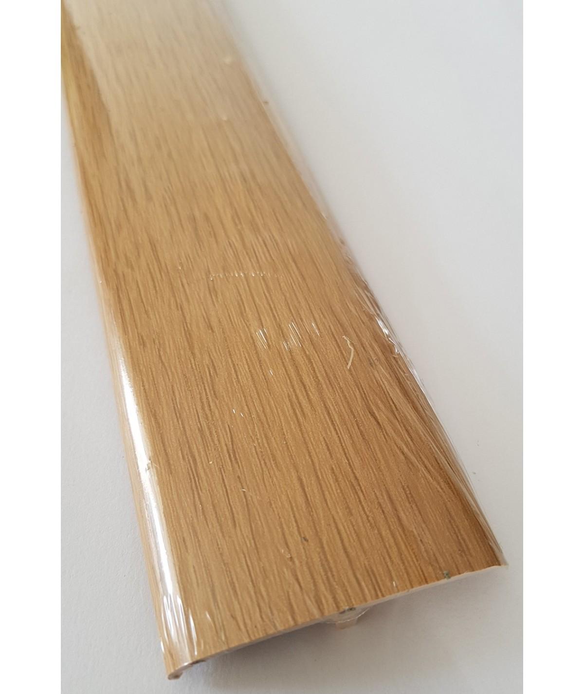Light Oak Laminated Transition Threshold Strip 50mm x 90cm Multi-Height/Pivots