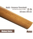 Walnut Dolce Transition Threshold Strip 50mm x 90cm Multi-Height/Pivots