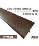 Brown Oak Laminated Transition Threshold Strip 50mm x 90cm Multi-Height/Pivots Catalog Products
