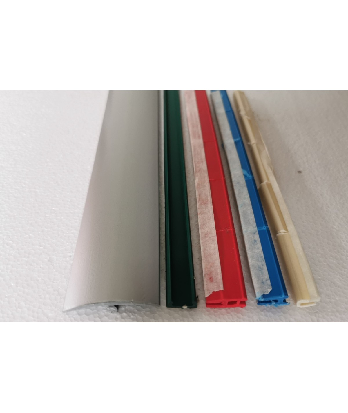 Silver Effect Laminate Transition Strip 38mm x 0.90mtr Multi-Height and Pivot