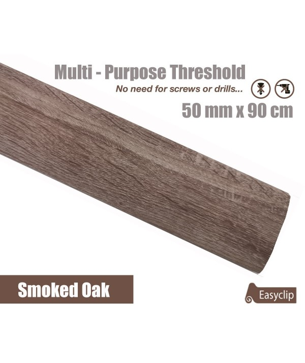 Smoked Pine Laminated Transition Threshold Strip 50mm x 90cm Multi-Height/Pivots
