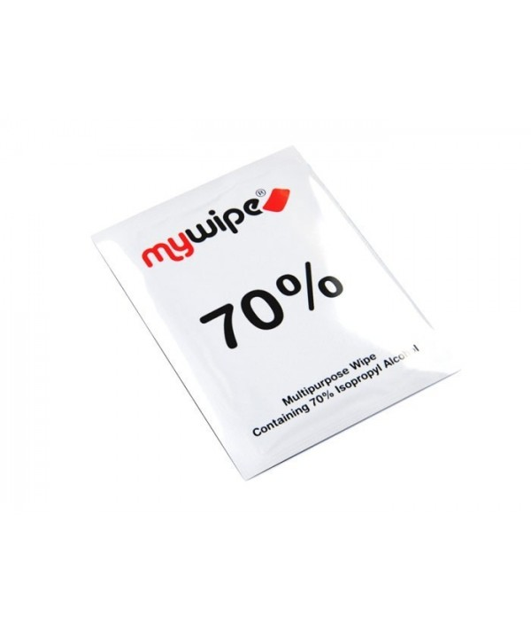 MYWIPE 70% Alcohol Wipes Sachets Large 185mm x 145mm Pack QTY 100