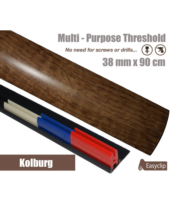 Kolburg Oak Laminated Transition Threshold Strip 38mm Multi-Height/Pivots 90cm