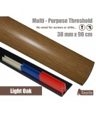 Light Oak Laminated Transition Strip Threshold 38mm Pivots 90cm Multi-Purpose