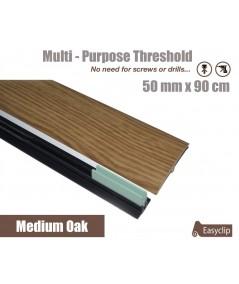 Medium Oak Laminated Transition Threshold Strip  50mm x 90cm Multi-Height/Pivots