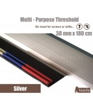 Silver 38mm x 180cm Aluminium Transition Threshold Strip Door Threshold Multi Purpose Easyclip Adhesive