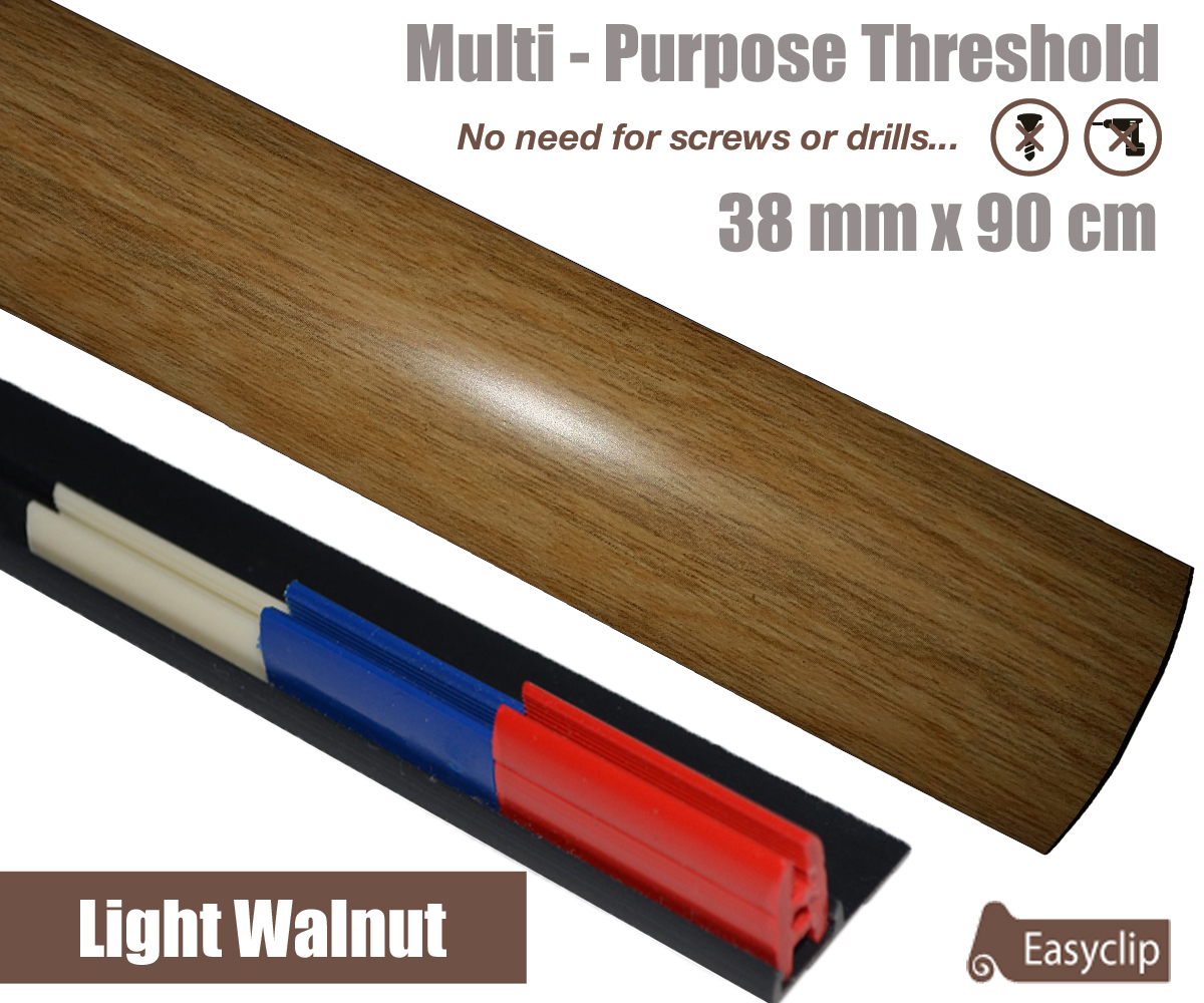 New Light Walnut Multi Purpose Threshold Strip 38mm X 90cm